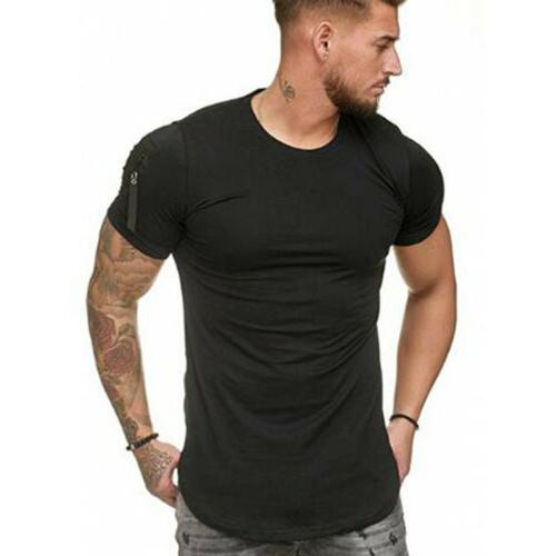 Men's Slim Fit Neck Muscle Blouse