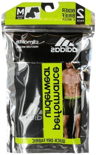 adidas Performance Climalite Boxer Brief 2 Pack,