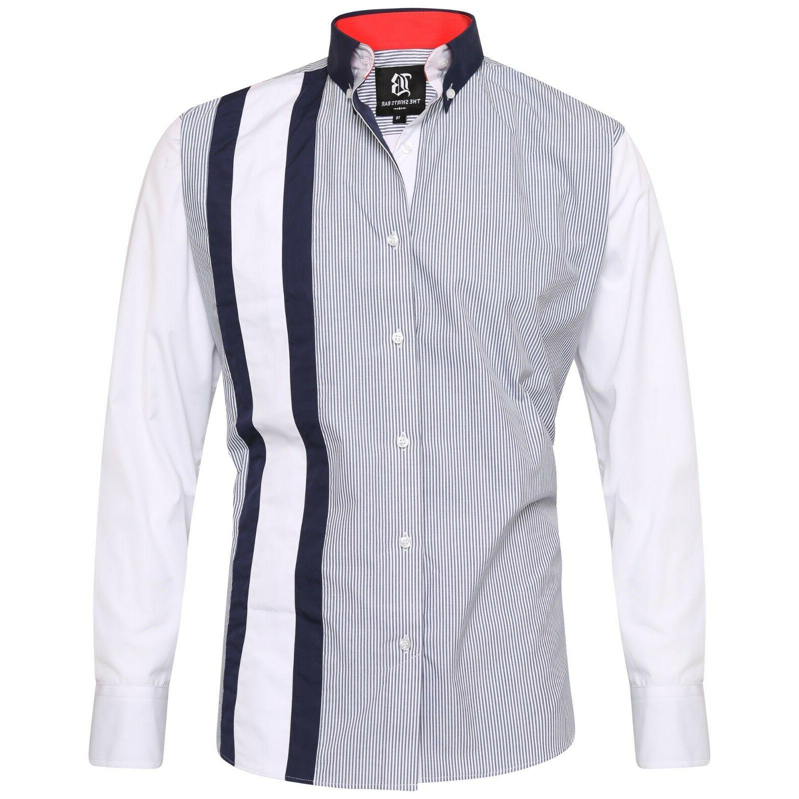 Men's Stripe Italian Luxury Shirts Casual