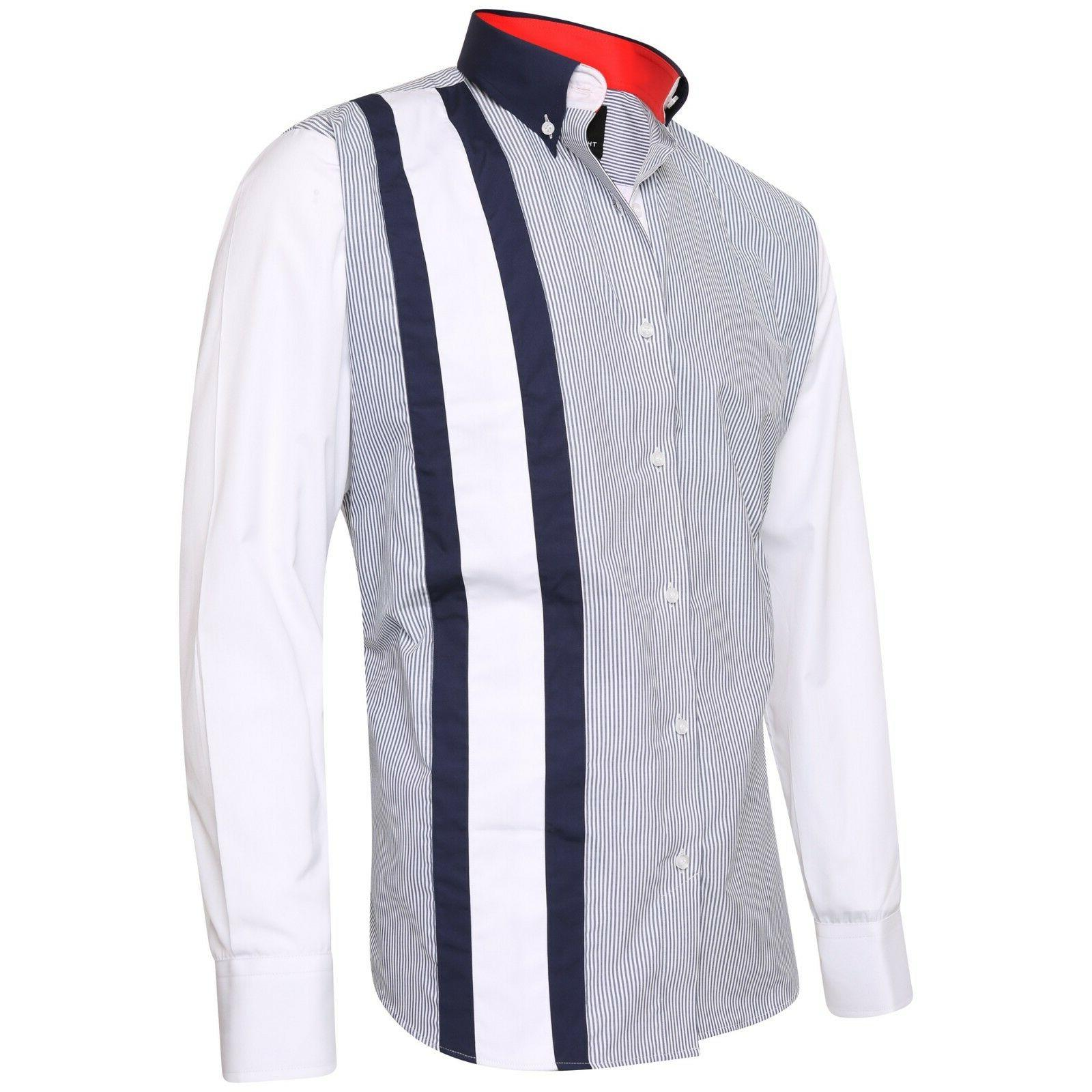 men s stripe formal shirt italian dress