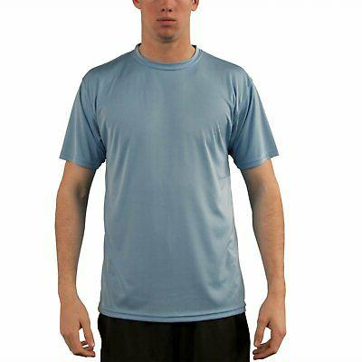 Vapor Apparel Men's UPF 50+ UV/SunProtection Short Sleeve Pe