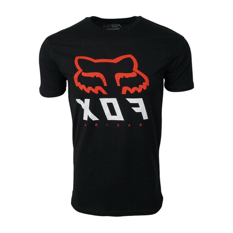 mens black with red white logo t