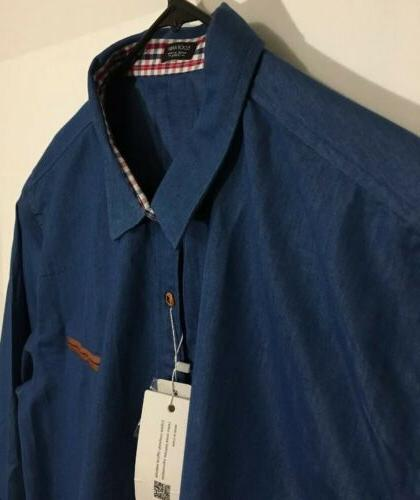 Coofandy 3XL Dress Shirt Button Down Sky Blue NWT Long Sleeve