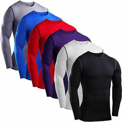 mens compression base layer top t shirt