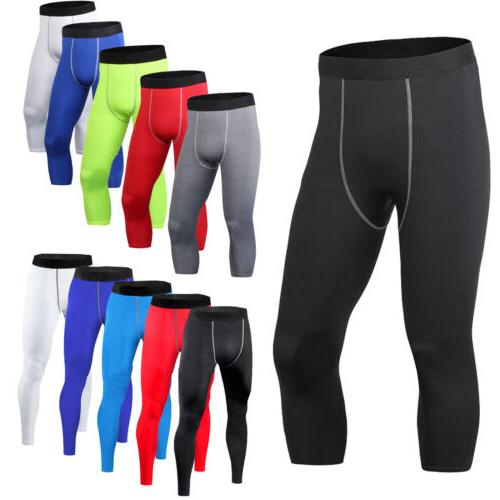 mens compression leggings sports training base layers