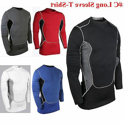 Mens Compression Under Shirt Base Tight Tops Gym Sports Athletic T-Shirt