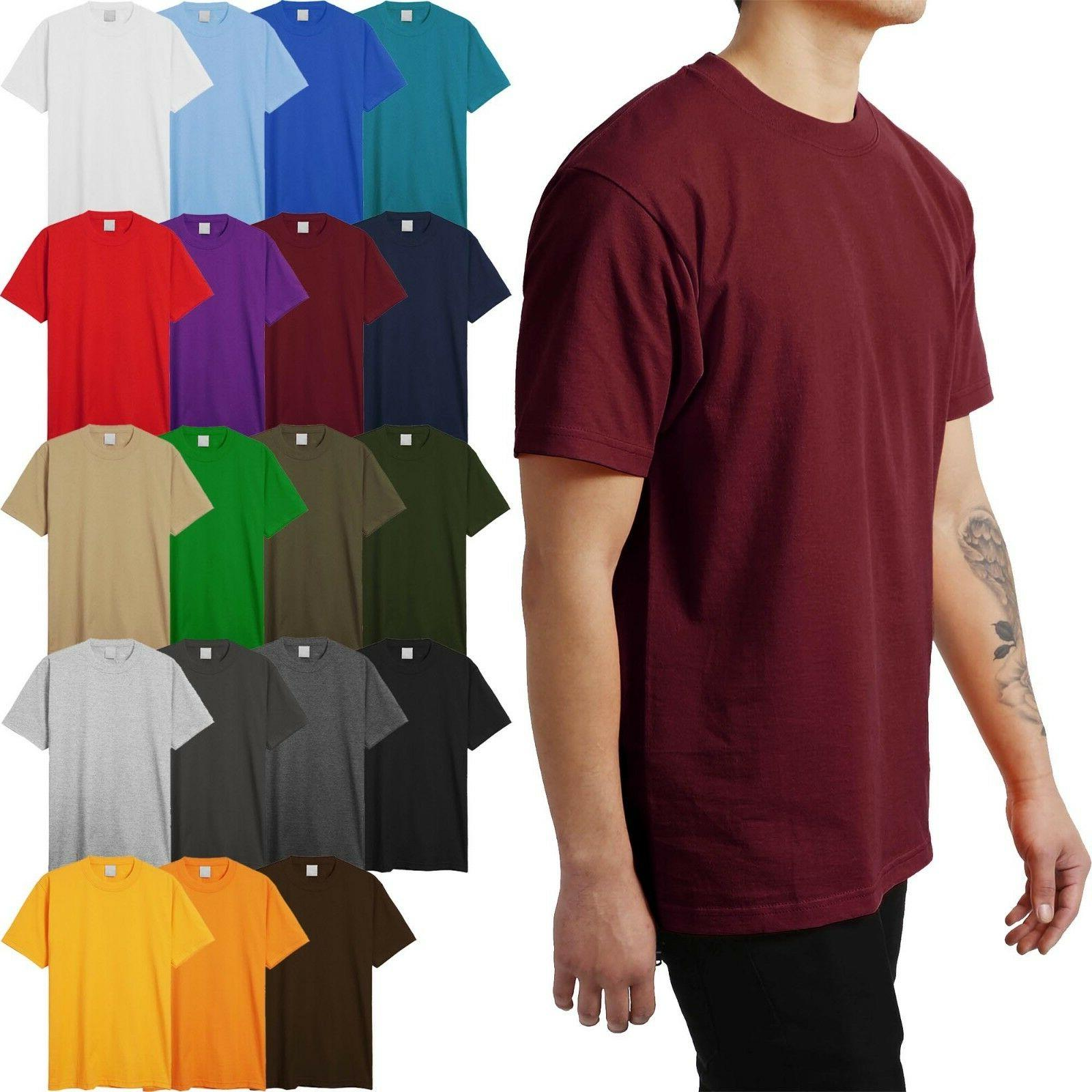 Mens HEAVY WEIGHT T Shirts SUPERMAX Plain Tee BIG AND TALL 5