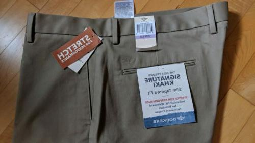 Dockers Khakis The Pressed Slim Tapered Size W38 L32