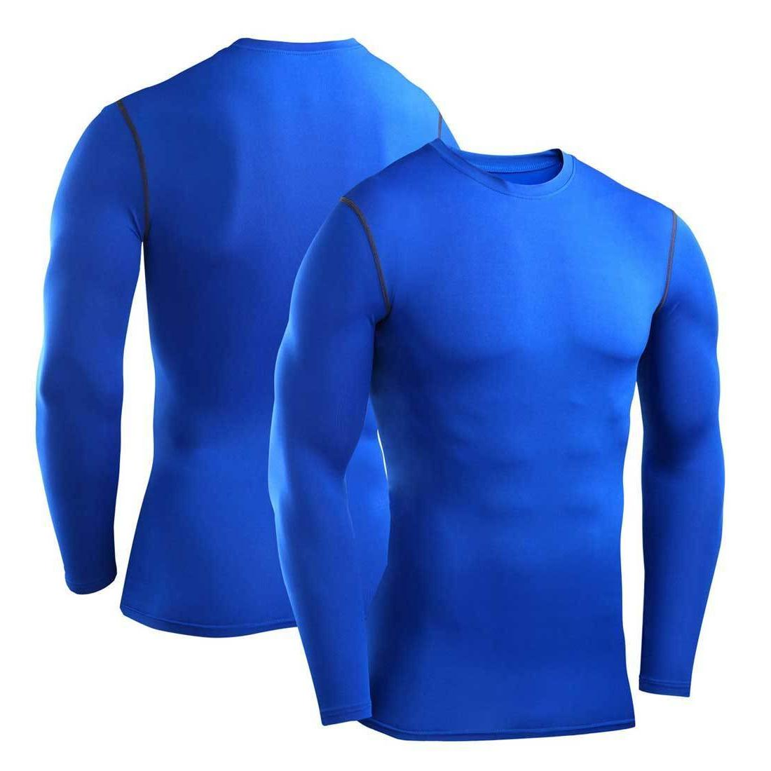 Mens Compression Shirt Long Sleeve Top Layer