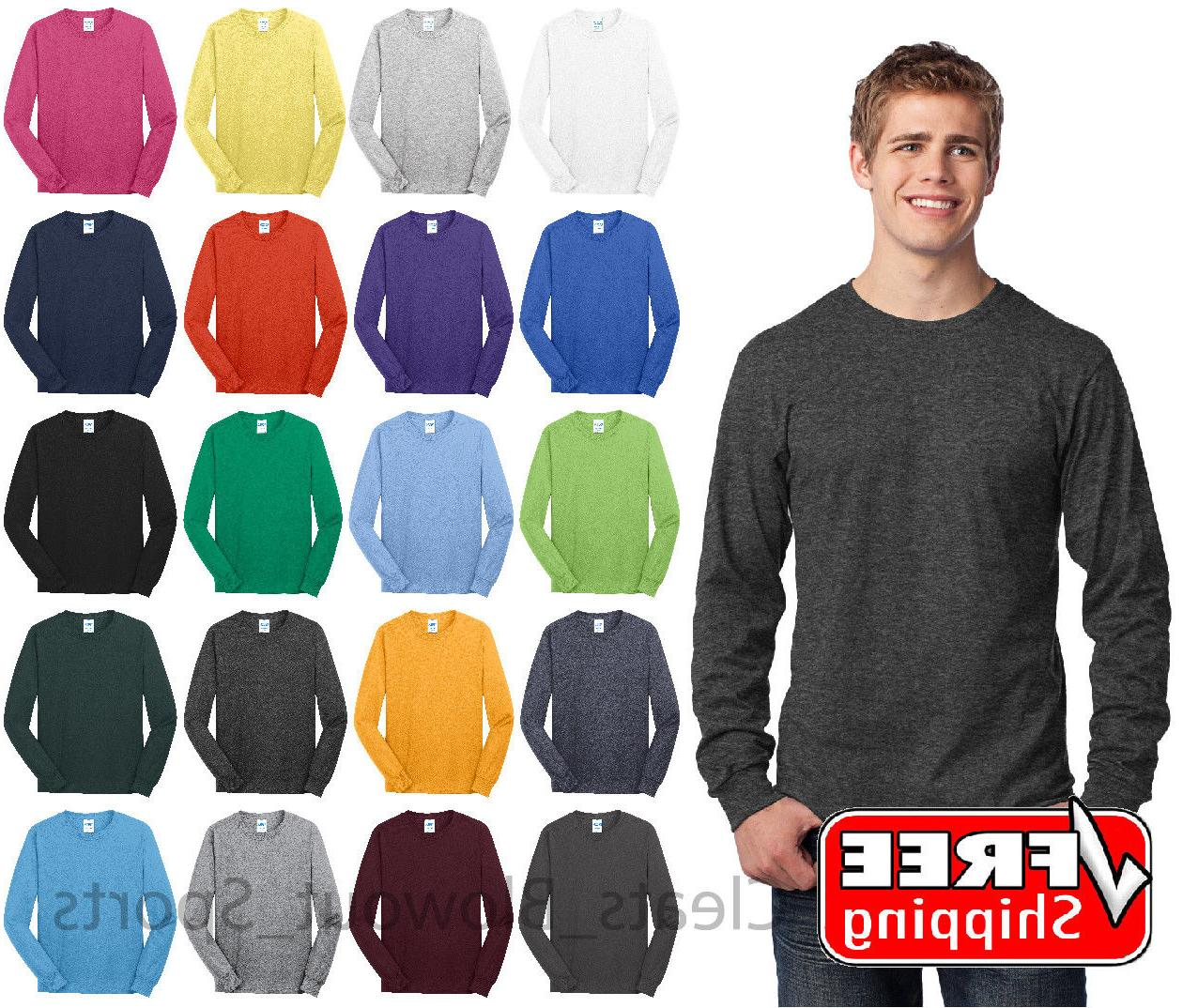 mens long sleeve t shirt cotton comfort