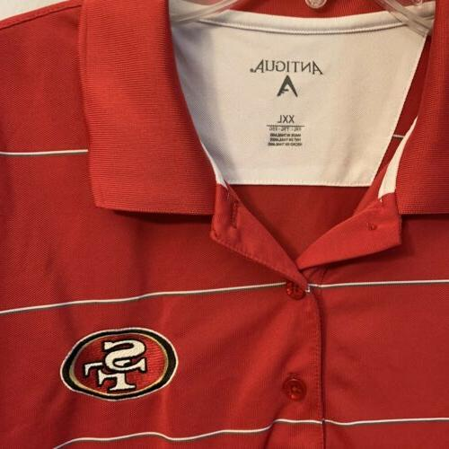 mens san francisco 49 ers red polo