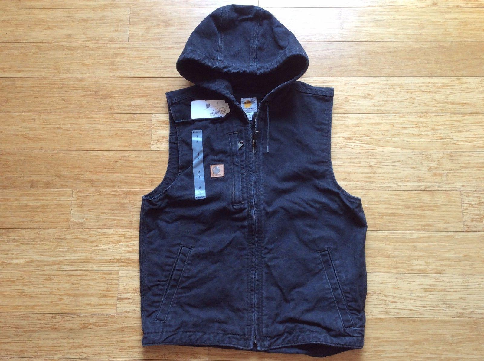 Carhartt mens Vest Knoxville Hooded Lined