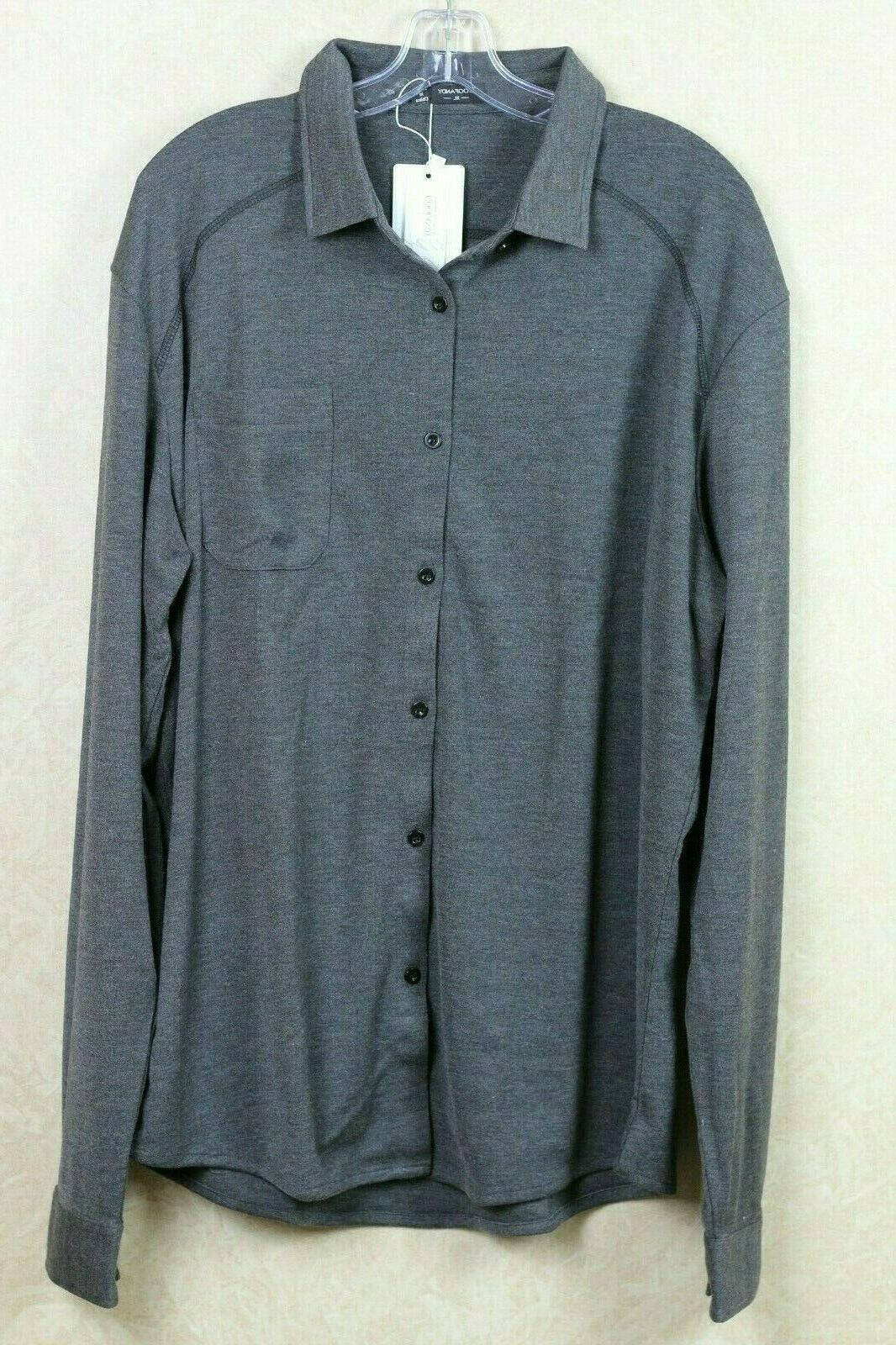 mens shirt xl gray button down shirt