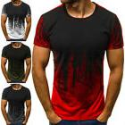 Mens Short Sleeve T Shirt Slim Fit Casual Tops Clothing Body