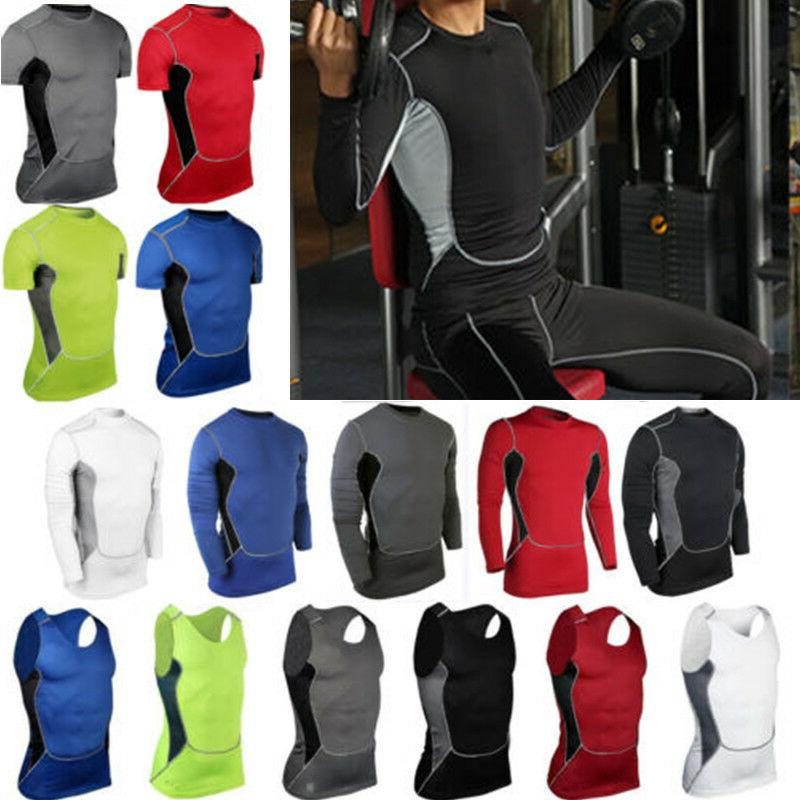 mens sports compression t shirts vests tank