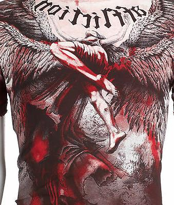 AFFLICTION Mens Angel Tattoo Motorcycle Biker UFC