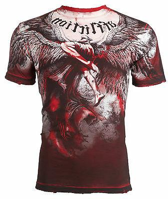 mens t shirt upward angel wings red