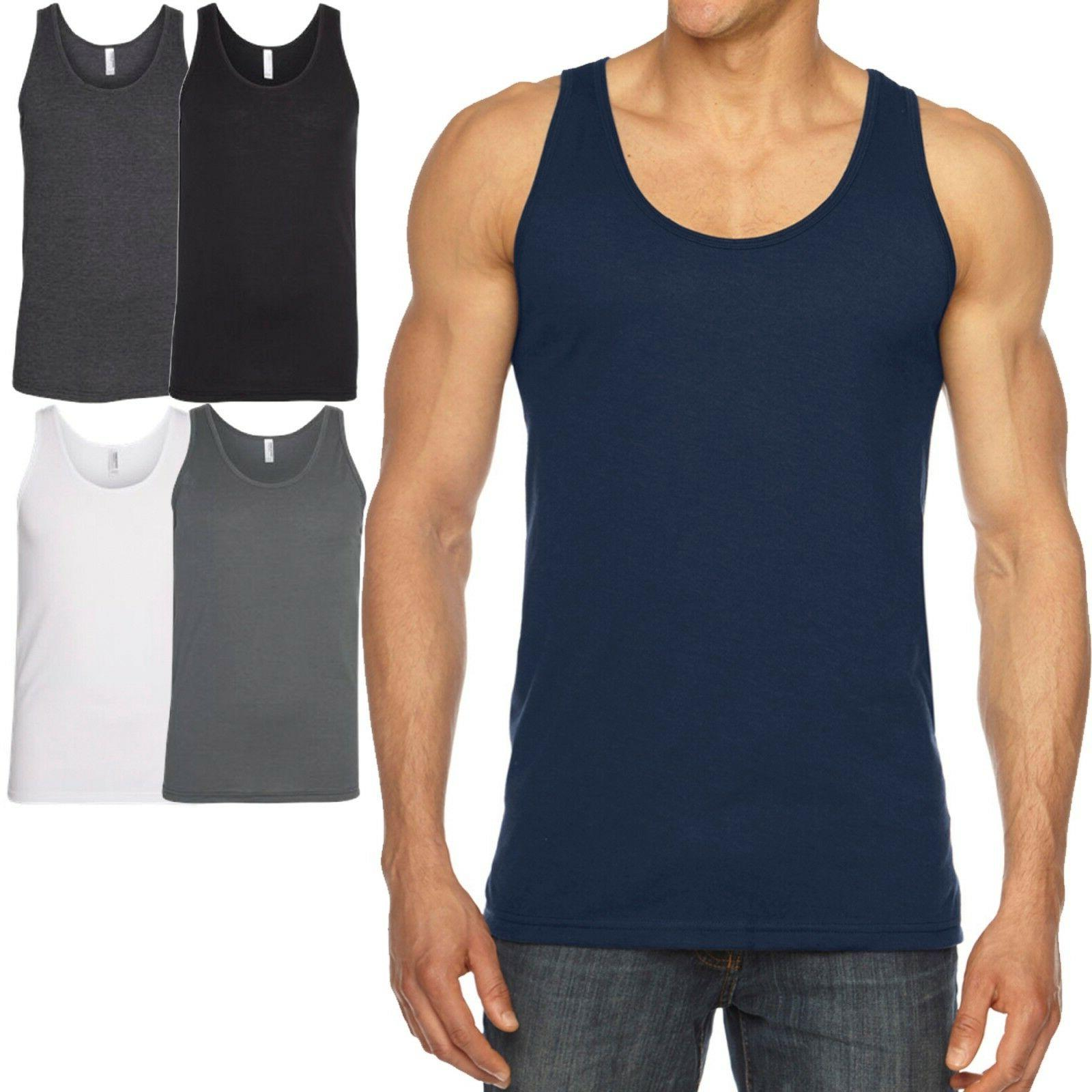 mens tank top poly cotton sleeveless t