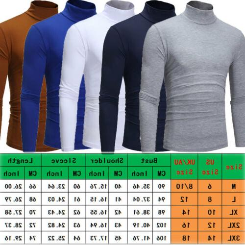 Mens Thermal Neck Sweaters Stretch
