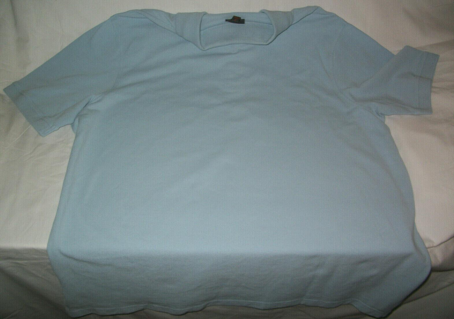 Cherokee Polo Short Sleeve Shirt Light Blue