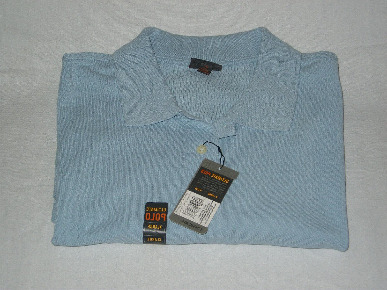 mens ultimate polo short sleeve shirt xl