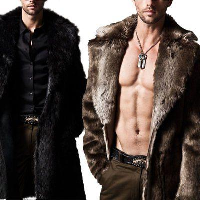 Mens Warm Male Fashion Overcoat Clothes Jacket