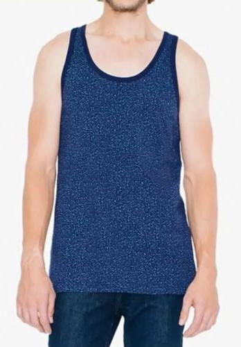 American Apparel Navy Blue Printed Men's Cotton Top Shirt Size S NEW