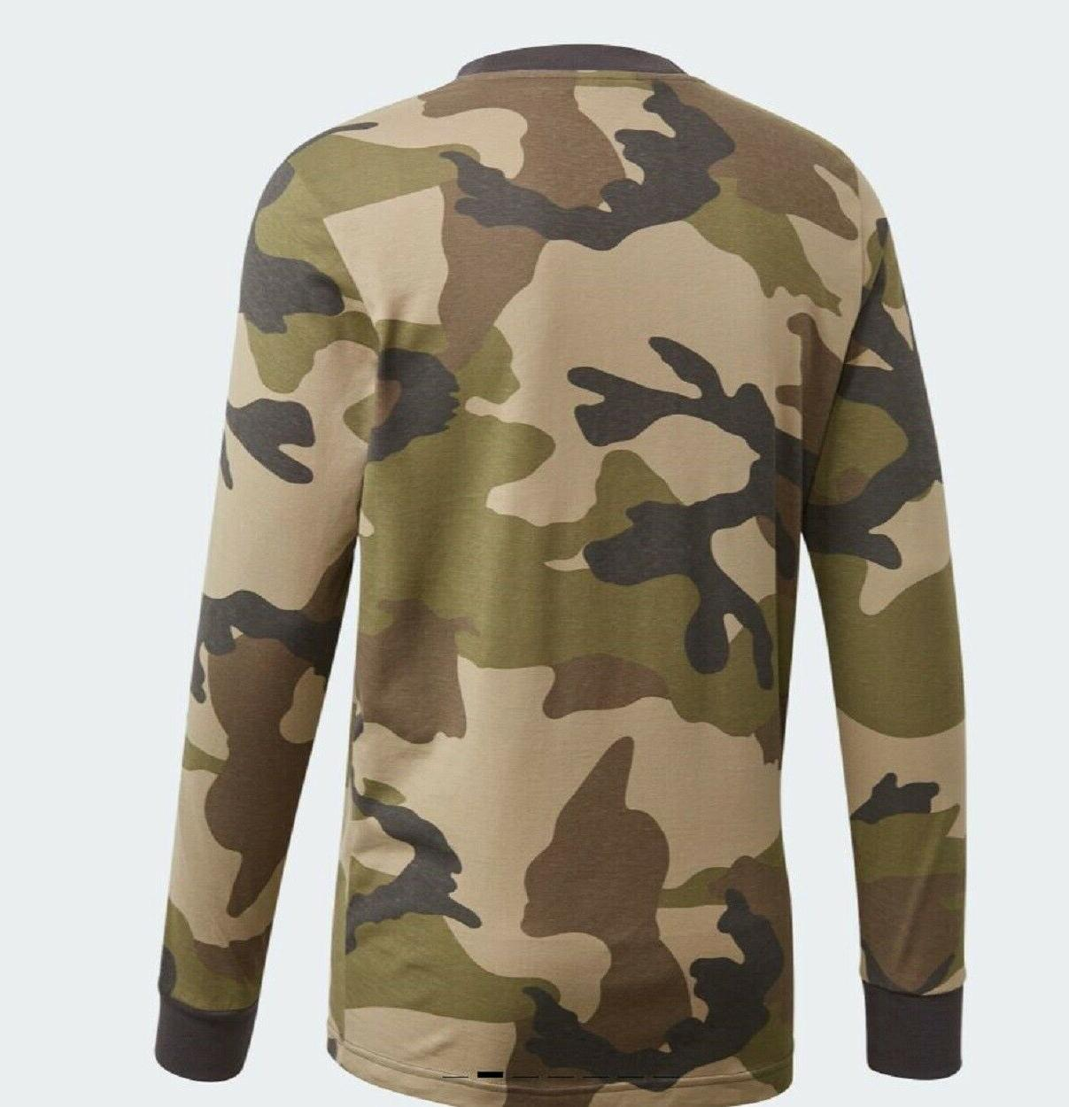 NEW ADIDAS ORIGINALS CAMO TREFOIL LONG TEE SHIRT ~ MEDIUM #DV2055