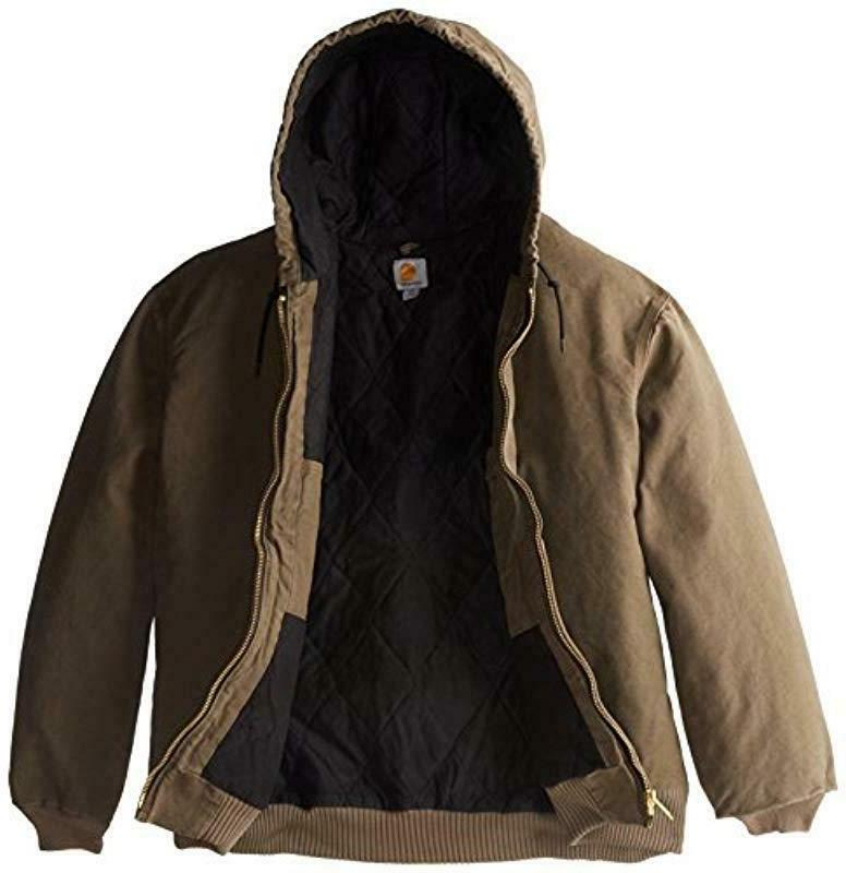 NEW TAGS! MENS SANDSTONE WINTER COAT FLANNEL LINED JACKET NWT