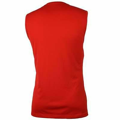 ASICS Sleeveless  Athletic   Tops - Red - Mens