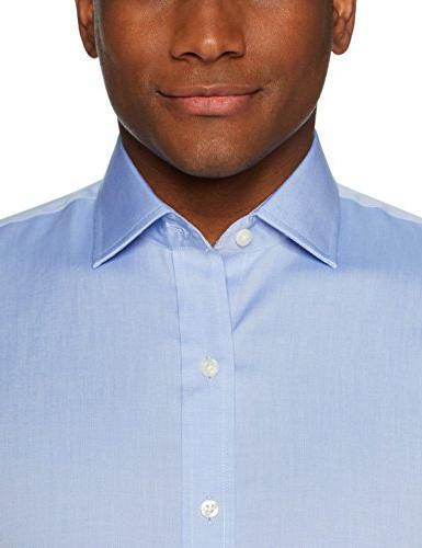 """BUTTONED Slim Fit Spread-Collar Non-Iron Dress Shirt Neck 33"""" Sleeve"""