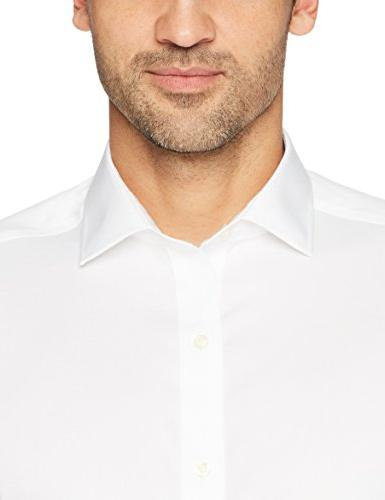 """BUTTONED DOWN Fit Spread-Collar Solid Dress Shirt , 16.5"""" Neck Sleeve"""