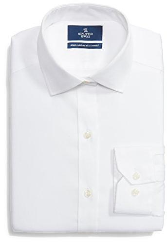 tailored fit spread collar solid