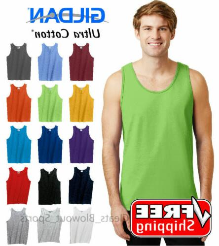 tank top ultra cotton mens workout fitness