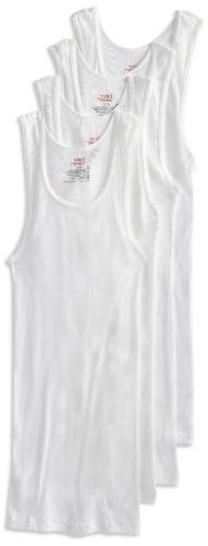 Hanes Men's 4-Pack FreshIQ Tanks, White, X-Large