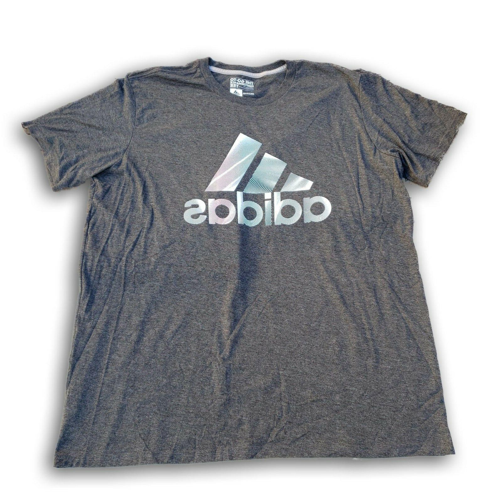 adidas The Go-To Tee Performance Men's Gray T-shirt Authenti