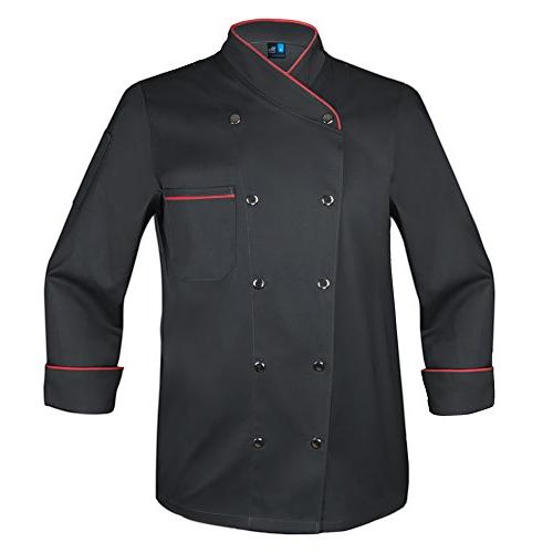twill snap front chef coat
