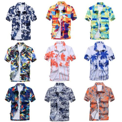 Shirt Holiday Floral Beach Tops Blouse