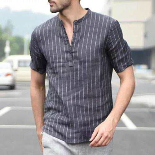 US Summer Men's V Sleeve Basic T-shirt Tops