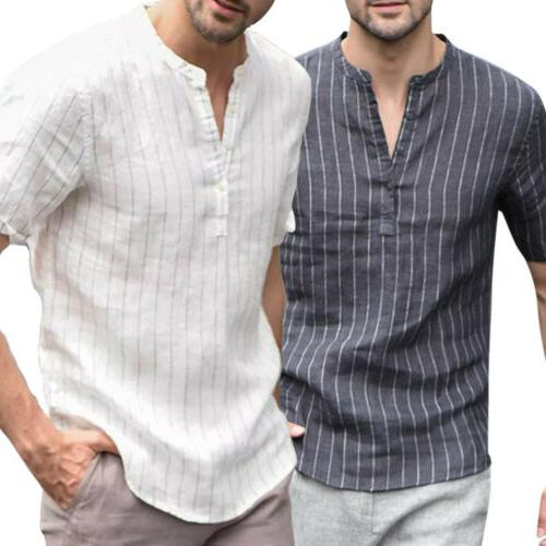 us summer men s linen v neck