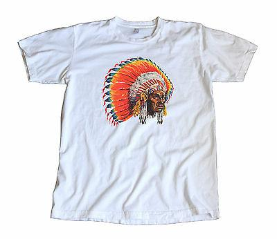 Vintage Amazing Indian Chief Decal T-Shirt - Cherokee, Sioux
