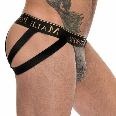 viper print strappy jock with ring accent