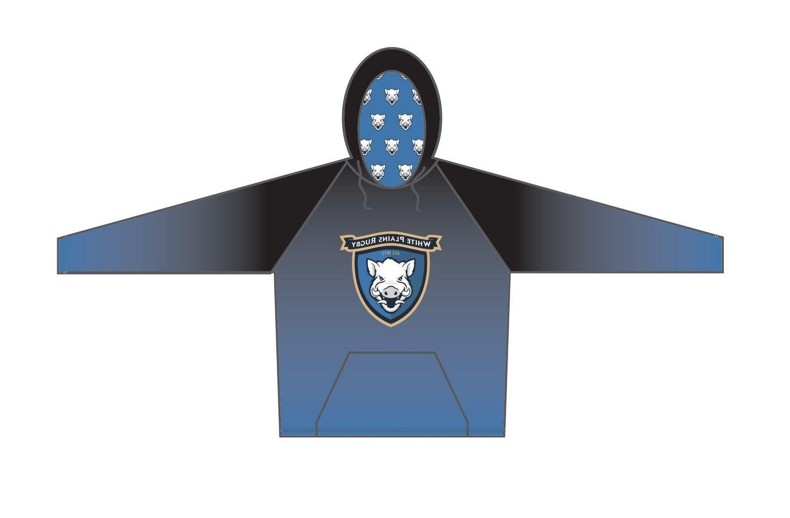 white plains rugby limited edition performance hoody