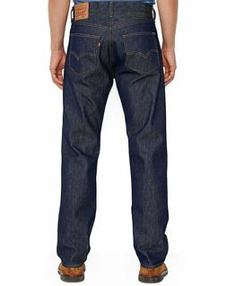 LEVIS MENS 501 ORIGINAL SHRINK TO FIT BUTTON FLY JEANS PANTS