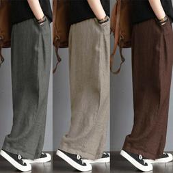 Loose Wide Leg Trousers Pants Clothing Linen Casual Jeans Ma