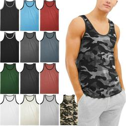 Mens TANK TOP SLEEVELESS SHIRTS Basic Gym Beach Active Tee T