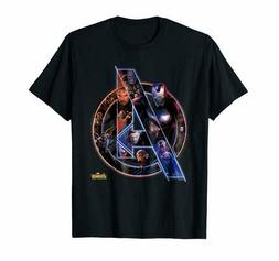 Marvel Avengers Infinity War Neon Team Graphic Tee T-Shirts