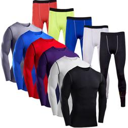 men compression base layer tops thermal gym