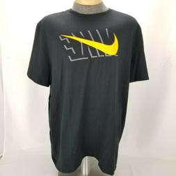 Nike Men's 2XLARGE Athletic Wear Short Sleeve Logo Swoosh Gy