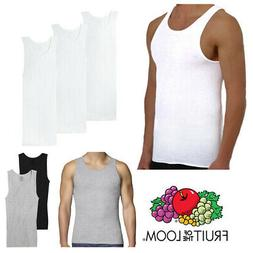 Fruit Of The Loom Men's 3 Pack Tank Top Tag-Free Cotton Athl